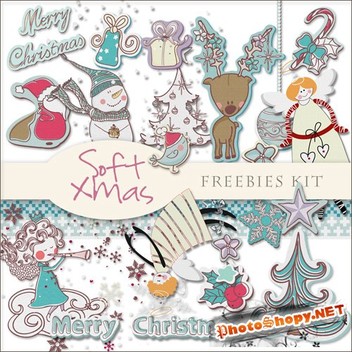 Scrap-kit - Soft X-mas