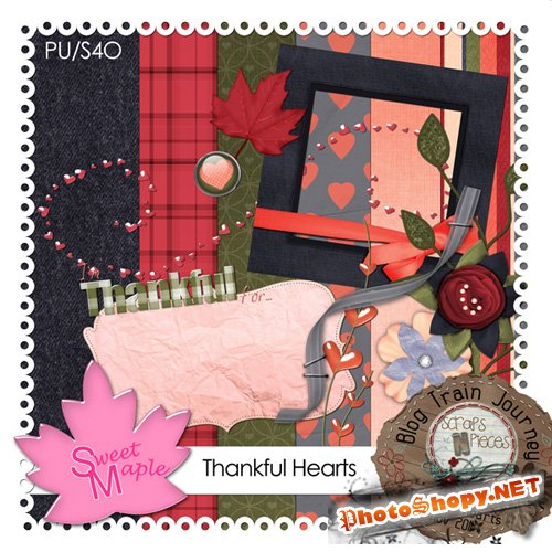 Scrap-set - Thankful Hearts #3
