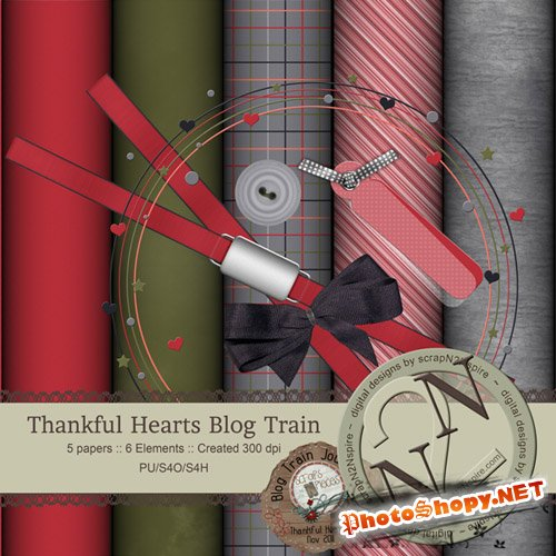 Scrap-set - Thankful Hearts #9