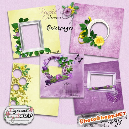 Quick-pages - Putple And Yellow Dream - Frames