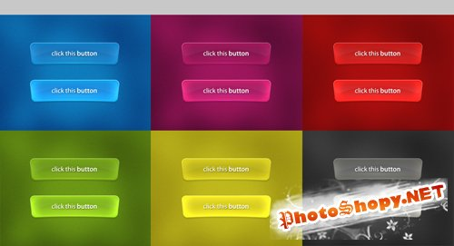 Glossy buttons pack – PSD