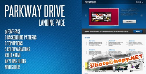 ThemeForest - Parkway Drive - Landing Page - Rip