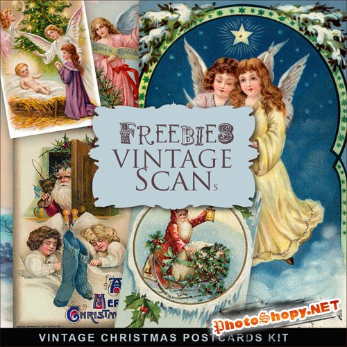 Scrap-kit - Vintage X-mas Postcards #12