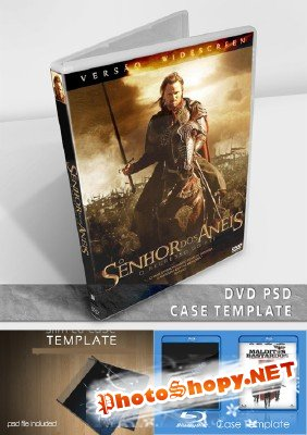 Case DVD PSD and SLIM CD CASE TEMPLATE