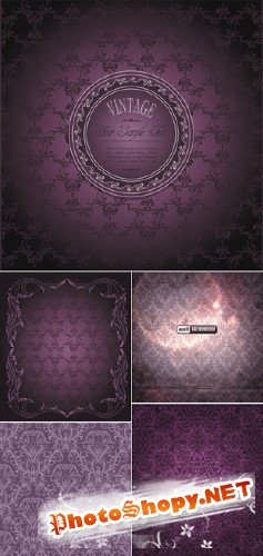 Luxury Purple Patterns Vector