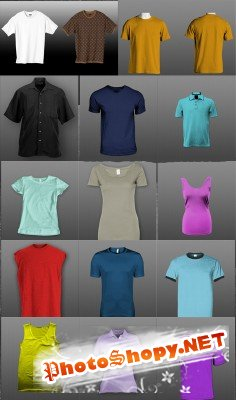 Sources - Women's and men's shirts psd