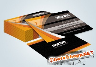 Orange Black Business Cards