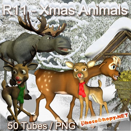 Scrap-kit - X-mas Animals by Romi