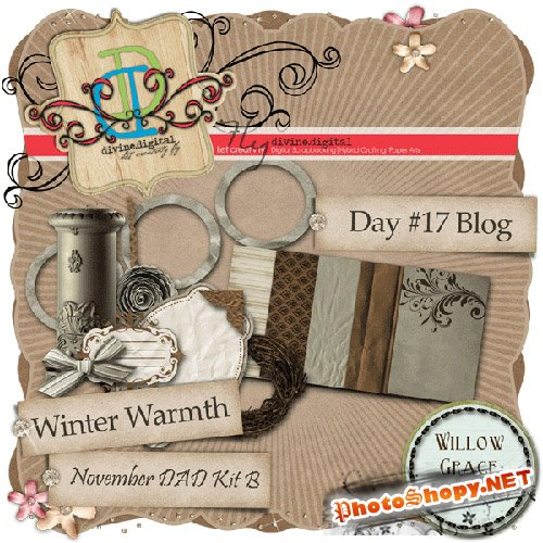 Scrap-set - Winter Warmth