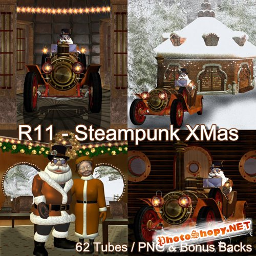 Scrap-kit - Steampunk X-Mas by Romi