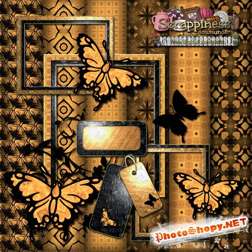 Scrap-set - Hope you enjoy the dramatic butterflies