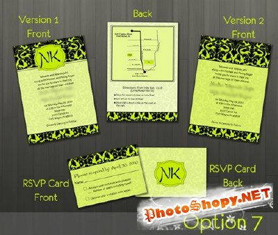 Wedding Invitation pack 3