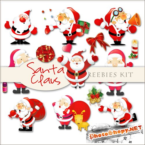 Scrap-kit - Santa Claus Illustrations