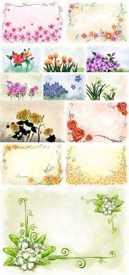 Flower backgrounds pack # 10