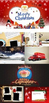 Collection of Beautiful  PSD Sources  2011 pack # 54