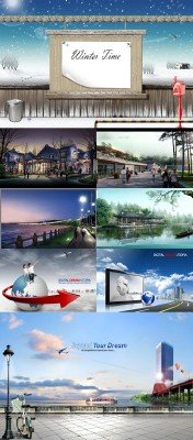Collection of Beautiful  PSD Sources  2011 pack # 56
