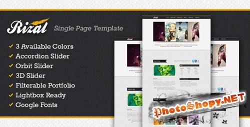 ThemeForest - Rizal - a Single Page Template - Rip