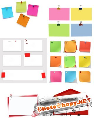 Office paper attachment and note sheets