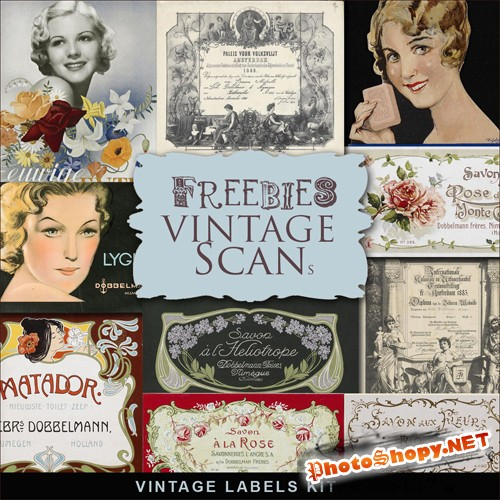 Scrap-kit - Vintage Labels #5