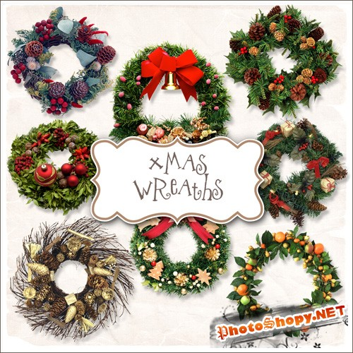 Scrap-kit - Christmas Wreaths #1