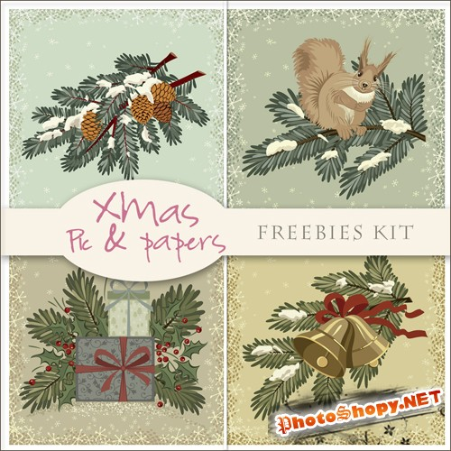 Scrap-set - Christmas Pic And Papers