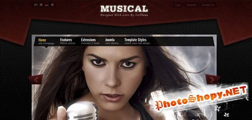 IceTheme - Musical v1.7.1 for Joomla 1.7