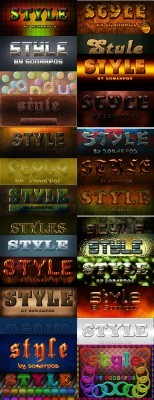 Text Styles for Photoshop pack # 5
