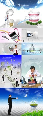 Collection of Beautiful  PSD Sources  2011 pack # 63