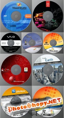 Collection covers for CDs