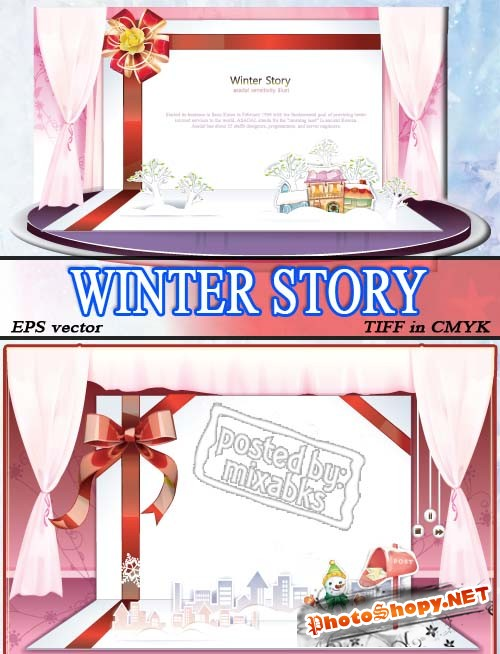 Зимние истории | Winter Story (eps vector + tiff in cmyk)