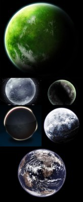 The collection of the planets PSD