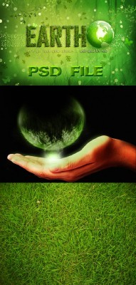 EARTH PHOTOSHOP PSD