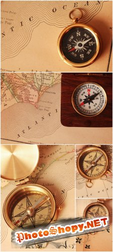 Photo Cliparts - Old compass
