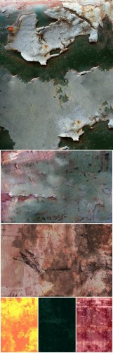 Textures - Rusty, Flaky Old Paint Vol. 07