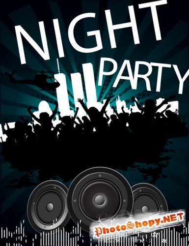 Vector Flyer For Night Party