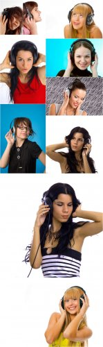 Photo Cliparts - In headphones
