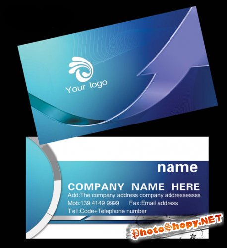 business card design template technology companies