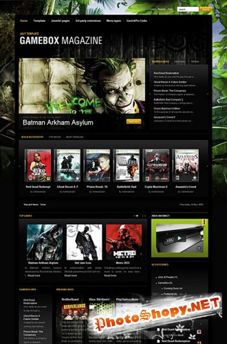 GameBox v2.3 Gavick Premium Joomla 1.7 Template-Retail
