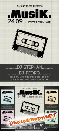 Musik Party-Club Flyer Template – PSD