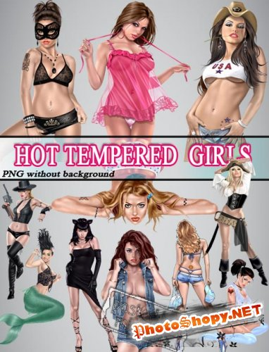Горячие девочки | Hot Tempered Girls (PNG without back)