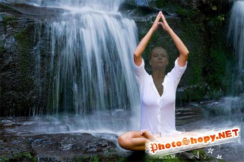 Шаблон для фотошопа - медитация