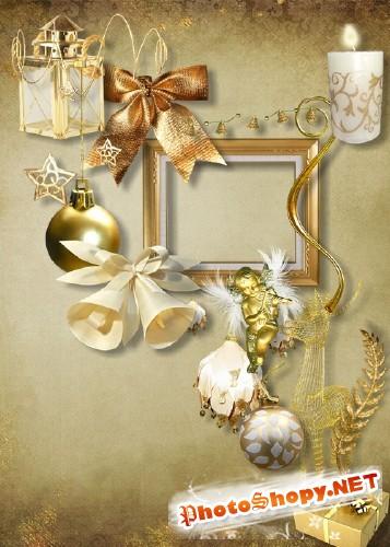 Скрап-набор - Золотой декабрь