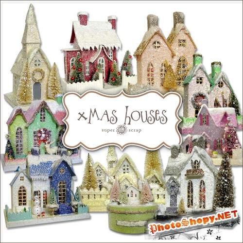 Scrap-kit - X-mas Houses