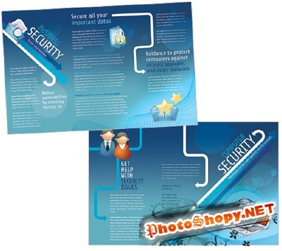 Templates for Design - Security Services Showpiece Brochure 11 x 8.5 BoxedArt