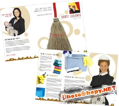 Templates for Design - Proper Cleaning Brochure 11 x 8.5 BoxedArt