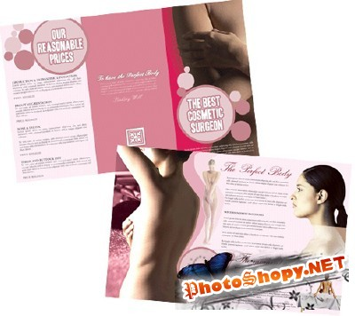 Templates for Design - Cosmetic Surgery Brochure 11 x 8.5 BoxedArt