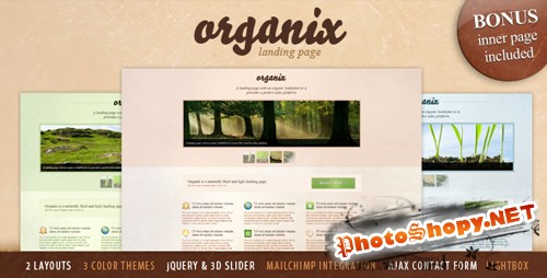 ThemeForest - Organix - Simple Product Oriented Landing Page - Rip
