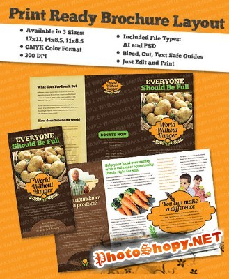 Templates for Design - Knowledge Feast Brochure 11 x 8.5 BoxedArt