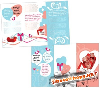 Templates for Design - Love Me Tender Brochure 11 x 8.5 BoxedArt