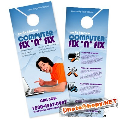 Computer Fix Brochure Template - BoxedArt